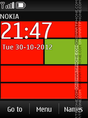 Nokia Web Red theme screenshot