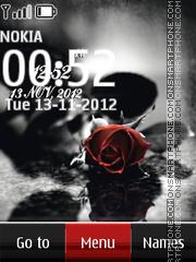 Tender rose digital clock theme screenshot