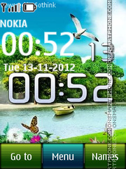 Nature Digital Clock 01 es el tema de pantalla