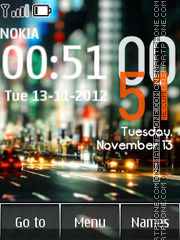 City Android Clock theme screenshot