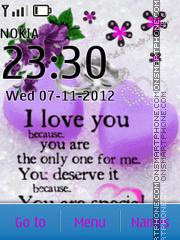 Скриншот темы I love you 11