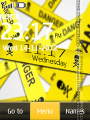 Danger Digital Clock theme screenshot