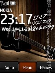 Capture d'écran Guitar Digital Clock thème