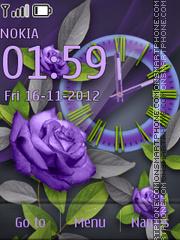 Purple Rose theme screenshot