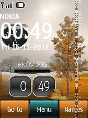 Clock Nature Dual tema screenshot