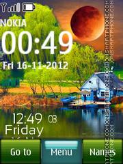 Nature Digital Clock 03 theme screenshot