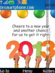 Скриншот темы New year holidays 2013
