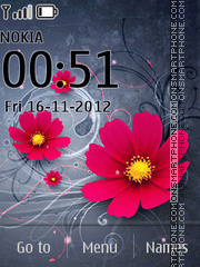 Animated Flower 01 theme screenshot