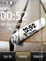 Smoke Digital Clock theme screenshot