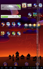 Halloween Ghosts tema screenshot
