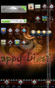 Happy Diwali 2017 tema screenshot