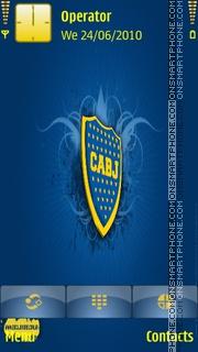 Boca Juniors theme screenshot