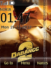 Dabangg 2 theme screenshot