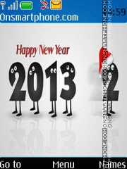 2013 New Year theme screenshot