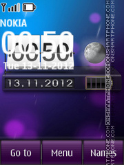Live htc clock theme screenshot