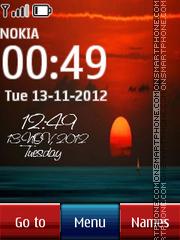Sunset Digital Clock 03 tema screenshot