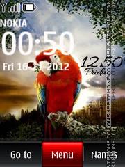 Parrot Digital Clock theme screenshot
