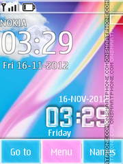 Colorfull Clock 01 theme screenshot