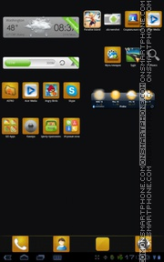 Black Gold 01 theme screenshot