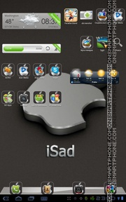 iSad tema screenshot