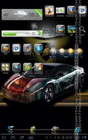 Lamborghini xtreme theme screenshot