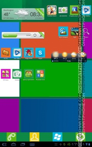 Capture d'écran Windows 8 11 thème