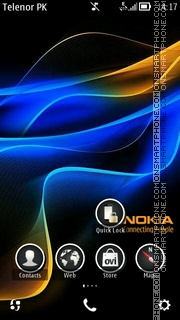 Nokia blue theme screenshot