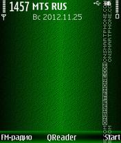 Green Shade theme screenshot