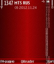 Red Shade theme screenshot