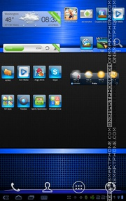 Blue Gloss theme screenshot