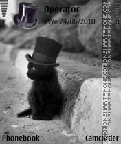Top Hat Cat es el tema de pantalla