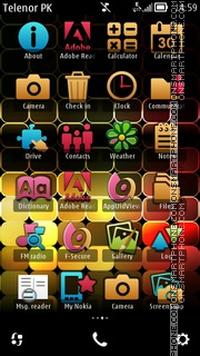 Modified Meego theme screenshot