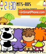 Cowco And Friends es el tema de pantalla