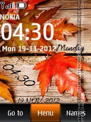 Скриншот темы Autumn leaf digital