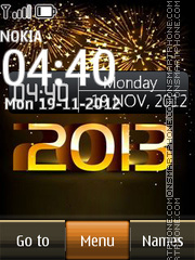 Happy 2013 Digital theme screenshot