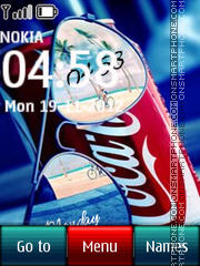 Скриншот темы Coca Cola Digital