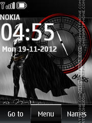 Batman Dual Clock 01 theme screenshot