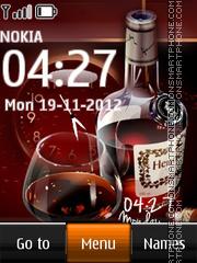 Hennessy Cognac Dual Clock es el tema de pantalla