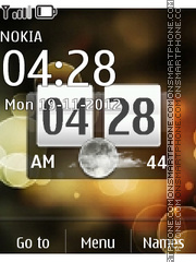 Htc Nature Clock theme screenshot
