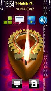 Happy Diwali Candle theme screenshot