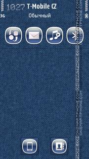 Denim Blue theme screenshot