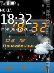 Winter Clock theme screenshot