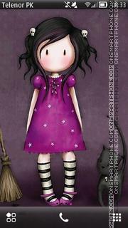Pink doll theme screenshot
