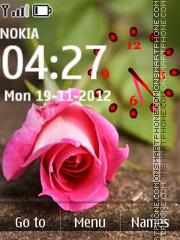 Rose With Clock 01 theme screenshot