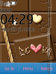 Chocolate Icons theme screenshot