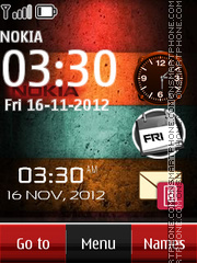 Stripes nokia dual clock theme screenshot