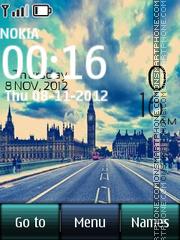 London Street Digital Clock tema screenshot