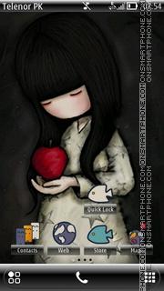 Cute doll theme screenshot