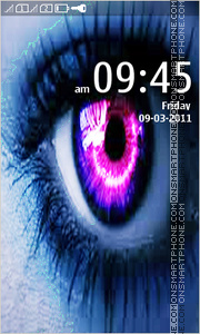 Neon HD Eyes tema screenshot