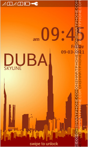 Dubai Skyline theme screenshot